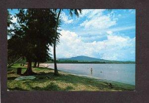 PR Beach Luquillo Puerto Rico Postcard Carte Postale