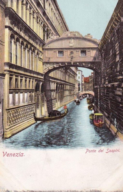 VENEZIA, Veneto, Italy, 1901-1907; Ponte Dei Sospiri, Gondolas