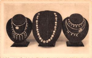 Mexico Old Vintage Antique Post Card Gold and Jade Necklases Mexico  Tarjeta ...