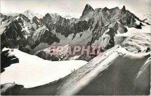 Modern Postcard Chamonix from the Aiguille du Midi Grand Combin Matterhorn La...