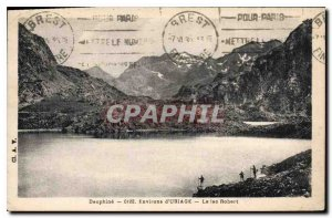 Old Postcard Dauphine Surroundings Uriage Lake Robert