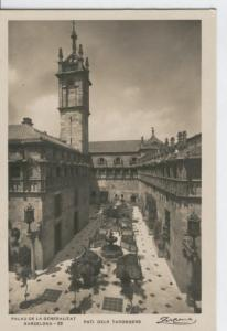Postal B/N 0337 : Barcelona: Pati dels Tarongers en Palau Generalitat