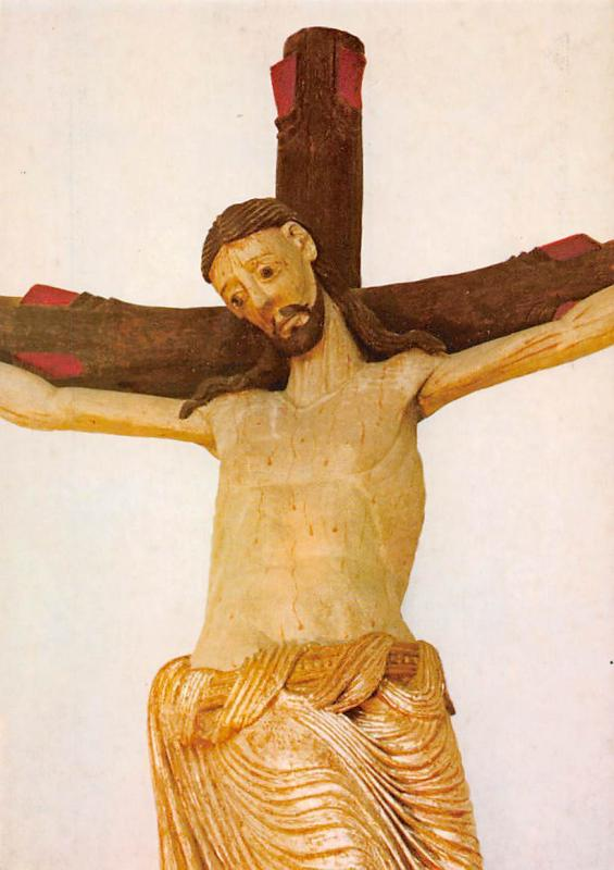 Wessobrunn Spaetromanisches Kreuz Pfarrkirche Church Crucifix