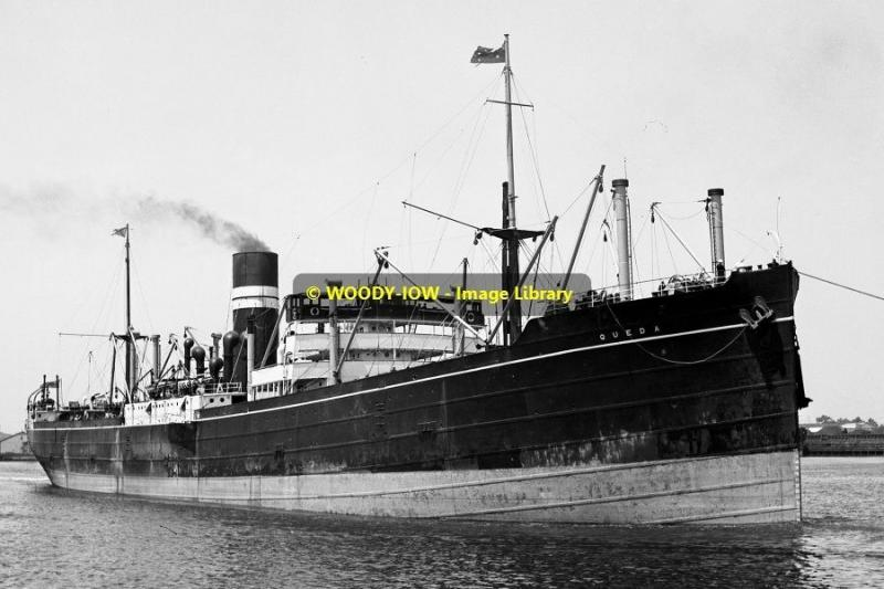 mc0204 - British India Steam Nav Cargo Ship - Queda - photograph 6x4