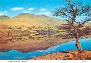 Scotland Loch Tay and Ben Lawers scenic landscape overview Postcard