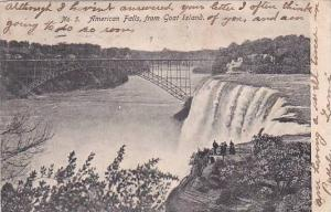 New York Goat Island American Falls From Goat Island 1906