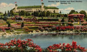 Pennsylvania Hershey The Hershey Rose Garden and Hotel Hershey 1950 Curteich