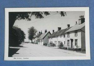 Vintage Real Photo  Postcard The Street Pleshey  Essex H1E