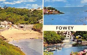 Vintage Postcard CORNWALL Fowey 3 split Multiview by NPO #B7213