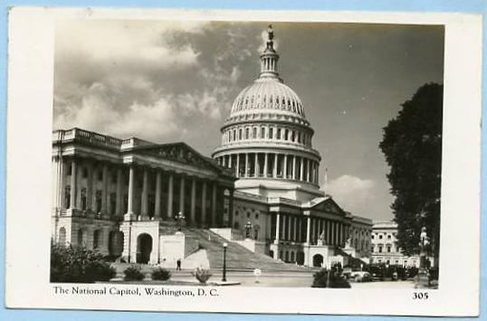 DC - Washington, The National Capitol  *RPPC