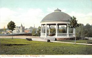 Wilmington Delaware~Pavilion Entrance to Zoo~Guarded by Cannons~1905 Postcard
