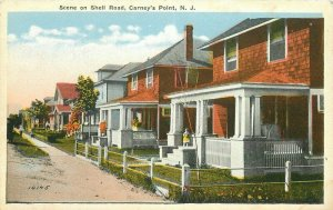 Carney's Point New Jersey 1920s Shell Road Scene #10145 Postcard 21-4954