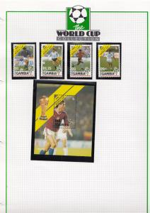 Gambia Gambian Football Team World Cup 1990 Limited Edition Stamp Collection