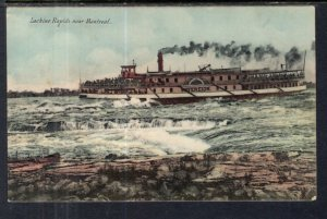 Steamer at Lachine Rapids Near Montreal,Quebec,Canada