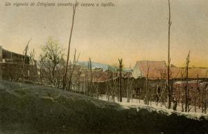 Italy -  Naples. Mt Vesuvio Ash & Lapillus Destruction, 1906. An Ottajano Vin...