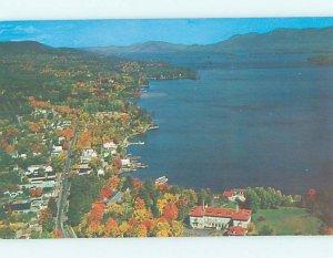 Pre-1980 AERIAL VIEW Adirondacks - Lake George New York NY AD0144