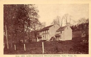 Major General Lord Stirlings Headquarters - Valley Forge, Pennsylvania PA