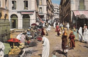 ALGER ALGERIE AFRICA MARKET~PLACE RANDON~RUE MARENGO~AQUA PHOTO POSTCARD