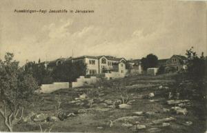 "israel palestine, JERUSALEM, Leper Asylum ""Jesus Hilfe"" (1910s) Postcard"