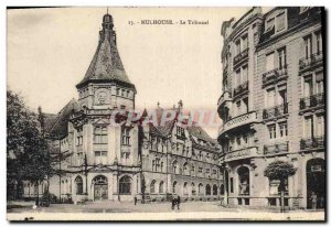 Old Postcard Courthouse Mulhouse The Tribunal