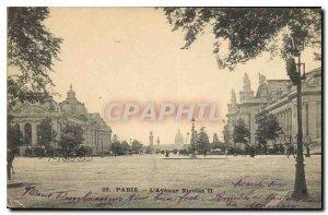 Postcard Old Paris Avenue Nicolas II