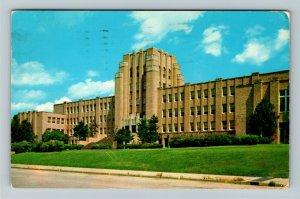 Little Rock AR- Arkansas, North Little Rock High School, Chrome c1959Postcard