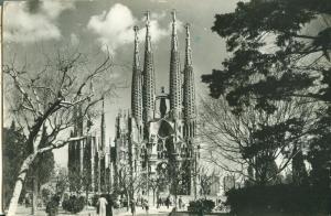 Spain, Barcelona, Templo de la Sagrada Familia 1961 used RP
