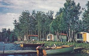 Boat, Jacqueline's Fishing Camp, Via Cadillac, Quebec, Canada, 40-60´s