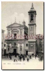 Postcard Old Nice La Cathedrale
