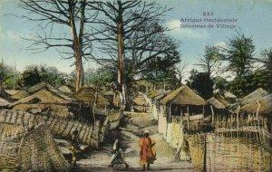 CPA AK Sénégal Afrique Fortier 333. Interieur de Village (68075)