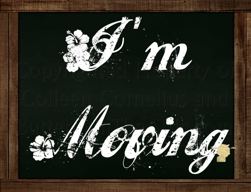"""Set of 6  Postcards Blackboard Greetings - I'm Moving"""" - Simple Expressions"""