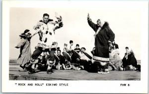 c1950s Alaska RPPC Real Photo Postcard Dancing ROCK AND ROLL ESKIMO STYLE