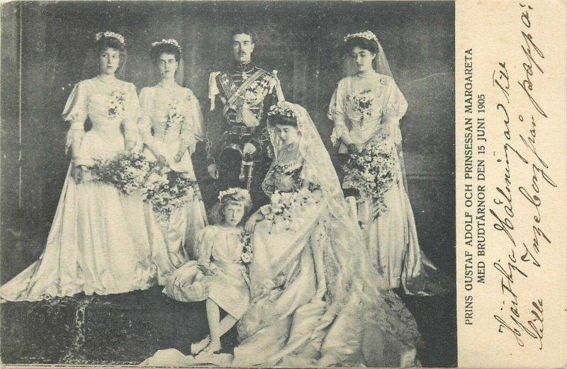 Royal wedding prince Gustaf Adolf & princess Margareta 15 June 1905