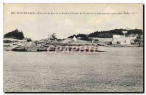 Postcard Old Port Ploumanach a corner and basically the Costaeres castle or S...