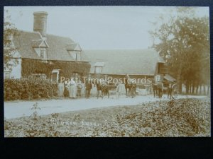 Essex DEBDEN Animated Rural Scene with HORSE & CART / TRAP Old RP Postcard