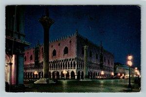 Venezia Palazzo Ducale Notturno Chrome Postcard