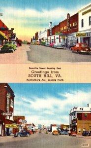 Virginia South Hill Danville Street Looking East & Mecklenborg Avenue Looking...