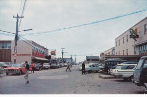 Shopping Centre , Street View , SEPT-ILES , Quebec , Canada , 50-60s