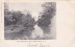 WHITE HOUSE, New Jersey , 1901-07; View of Rockaway River
