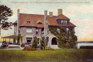 CROWS NEST SUMMER HOME OF THE LATE JOE JEFFERSON BUZZARDS BAY, MA 1908