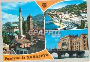 Postcard Modern Pozdrav is Sarajeva