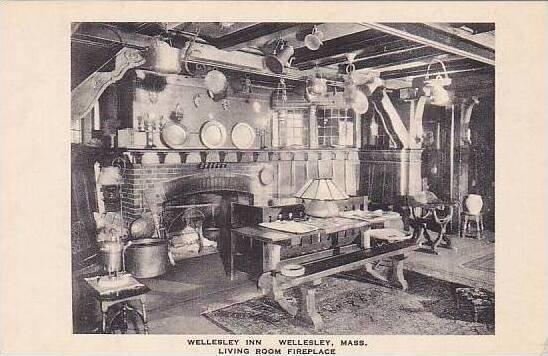 Massachusetts Wellesley Inn Living Room & Fireplace Albertype