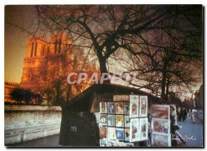 Postcard Modern Lights and Scenes of Paris Bookstall of the River Seine