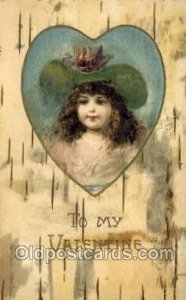Valentines Day 1906 light wear close to grade 2, postal used 1906