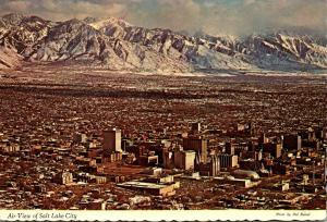 Utah Salt Lake City Aerial View 1972