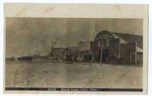 RPPC of Street Scene in Cody Nebraska NE 1910