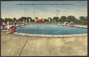 Swope Park,Mirror Pool,Kansas City,MO Postcard