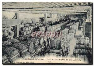 Old Postcard Folklore Wine Vineyards Champagne Montebello Mareuil on Ay Epern...