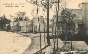 1950s Skowhegan Maine Tourist Bungalow Lakewood American Art postcard 11362