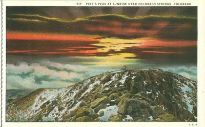 Pike's Peak at Sunrise near Colorado Springs, Colorado ea...